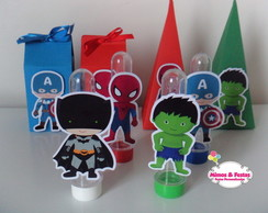 Kit festa super heroi cute
