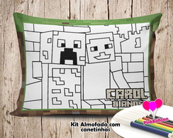 MINI ALMOFADA COLORIR 15X20 MINECRAFT