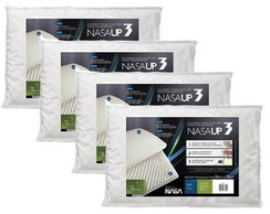 Kit 4 pçs Travesseiro Nasa Up 3 p/ Fronhas 50x70 – Fibrasca