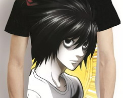 Camisa Death Note L Camiseta Estampa Total Anime