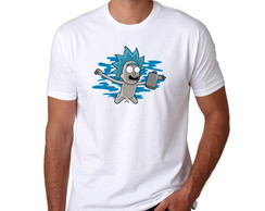 Camiseta Branca Rick And Morty