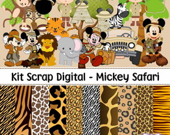 Kit Scrap Digital - Mickey Safari