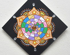 Quadrinho Mandala Colorida - pronta entrega