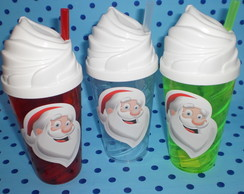 Copo Chantilly c/ Canudo 500ml Papai Noel