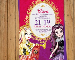 CONVITE DIGITAL ANIVERSÁRIO EVER AFTER HIGH 2