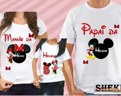KIT CAMISETA MINNIE