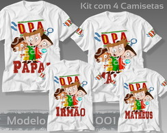 Kit 4 Camisetas DPA Detetives do Prédio Azul Personalizadas