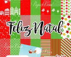 Kit Digital Feliz Natal - Papers Kit 01