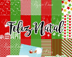 Kit Digital Feliz Natal - Papers Kit 02