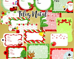 Kit Digital Feliz Natal - Tags para Presente