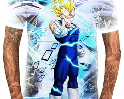 Camiseta Anime Vegeta Blue Dragon Ball Super Deus 4