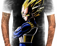 Camiseta Anime Vegeta Blue Dragon Ball Super Deus 6