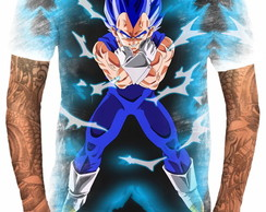 Camiseta Anime Vegeta Blue Dragon Ball Super Deus 7