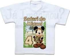 Camiseta Safari do Mickey