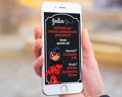 Convite Digital Ladybug Miraculous Whatsapp