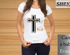 ... CAMISETA PERSONALIZADA EVANGELICA COM 1 FEMININA 320b59e068f