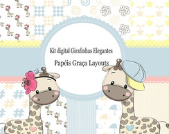Kit Digital Girafinhas Elegantes