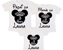 kit 3 camisas Minnie