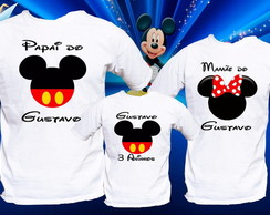 kit 3 camisas aniversario Mickey mouse