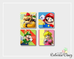 Arte digital 5 cm quadrado + aplique Mario Bros
