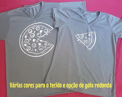 Kit 2 Camisetas casal pizza