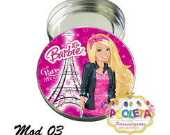 Latinha Barbie Paris modelo 03