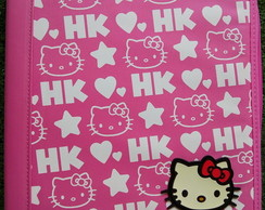 Fichario Nylon C/ Ziper Hello Kitty Com Argolas Yes