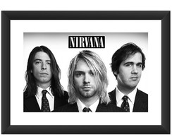 Kit 5 Quadro Nirvana Ramones Soundgarden Red Hot Silverchair