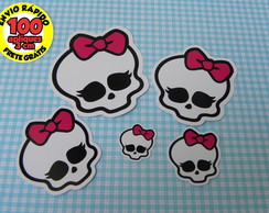 100 apliques de 3cm Monster High