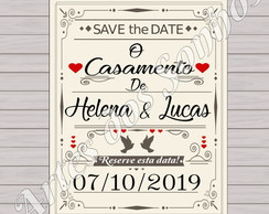 Save the Date - com imã (parcial)