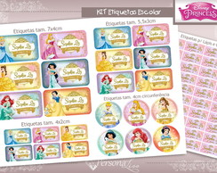 Kit Etiquetas Escolar - Princesas