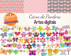 Kit Scrapbook Digital - Borboleta 1