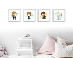 Quadro Harry Potter - personagens