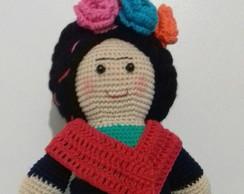 Amigurumi Frida Kahlo : Frida kahlo crochet amigurumi en mercado libre