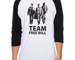 Camiseta Raglan Supernatural Unissex - Team Free Will