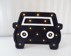 Luminoso carro de MDF com Led