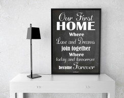 Poster Decorativo First Home