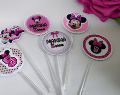 TOPPER PARA DOCES DA MINNIE ROSA