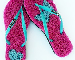 Chinelo Capacho Massageador Summer In - PINK / AZUL BEBÊ