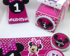 KIT MINNIE ROSA 40PÇS-PERSONALIZADOS