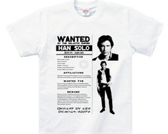 CAMISETA WANTED HAN SOLO