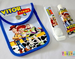 Kit Dental c/ porta escova Toy Story