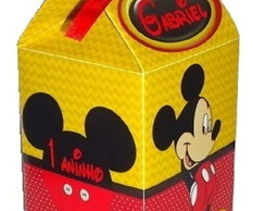 Caixa Milk Personalizada Mickey / Minnie
