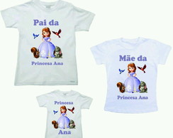 Kit 3 camiseta princesa sofia