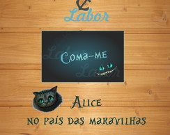 Arte digital Tag gato Alice (4x2,5cm)