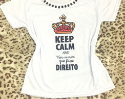 Baby look Customizada - Keep Calm and Eu faço Direito