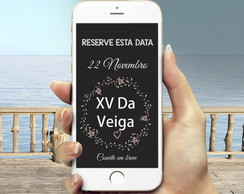 Save the date digital 15 anos