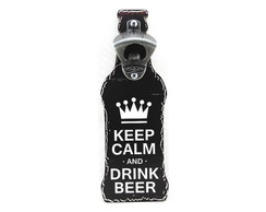 Placa Abridor Keep Calm Beer - ag021