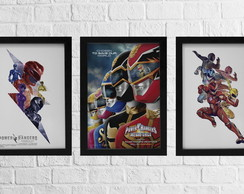 KIT 3 Quadro Power Rangers