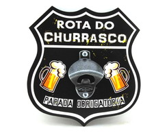Placa Abridor Escudo Rota do Churrasco - ae001